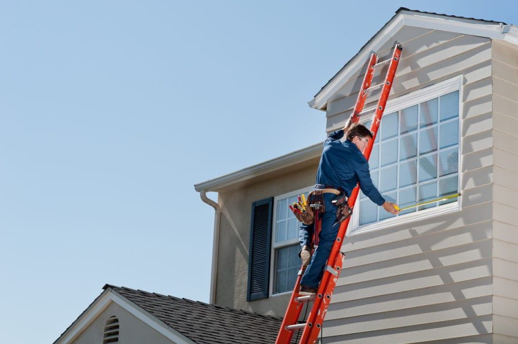 Contractor completing minor house improvements